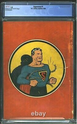 1939 D. C. Comics Superman #1 CGC 1.5 Cream to Off-White Pages