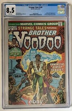 (1973) Strange Tales #169! CGC 8.5 WHITE PAGES! 1st appearance BROTHER VOODOO