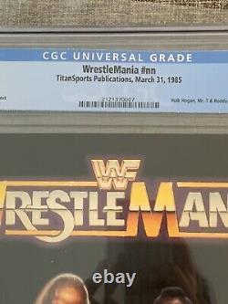 1985 WWF Wrestlemania I Official Program CGC 8.0 White Pages Hulk Hogan Mr T WWE