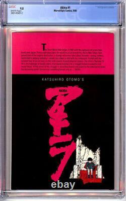 AKIRA #1 CGC 9.8 WHITE PAGES 1st PRINT 1988