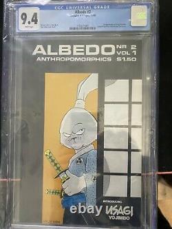 ALBEDO #2 CGC 9.4 White Pages 1st Appearance USAGI YOJIMBO 11/84