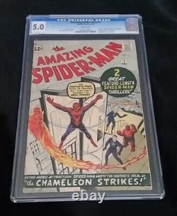 AMAZING SPIDERMAN #1 CGC 5.0 WHITE PAGES RARE TIME PAY G Addy 4 Best Prices
