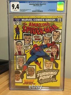 AMAZING SPIDER-MAN #121 CGC 9.4 WHITE PAGES Key Issue Death of Gwen Stacy