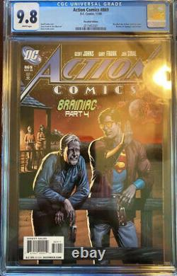 Action Comics #869 CGC NM/M 9.8 White Pages Recalled Beer Bottle Edition