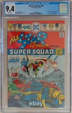 All Star Comics #58 (CGC 9.4, White Pages) 1st POWER GIRL