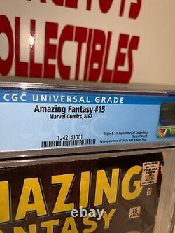 Amazing Fantasy #15 CGC 6.0 Unrestored Marvel 1st Spider-Man RARE WHITE PAGES
