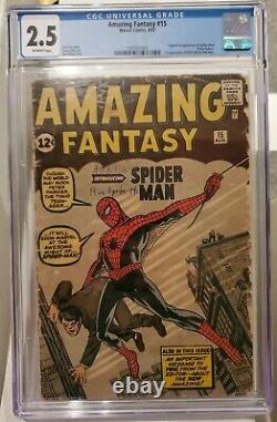 Amazing Fantasy #15 (Marvel, 1962) CGC 2.5 Off-white pages Holy Grail
