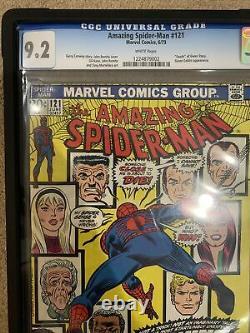Amazing Spider-Man #121 (Jun 1973, Marvel) CGC 9.2 Rare White pages