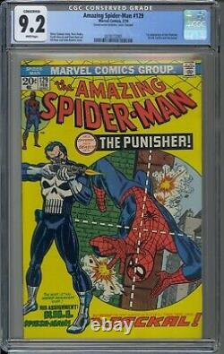 Amazing Spider Man 129 / CGC 9.2 / White Pages / 1st Punisher