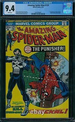 Amazing Spider-Man 129 CGC 9.4 1st Punisher White Pages