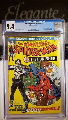 Amazing Spider-Man 129 CGC 9.4 WHITE PAGES 1st app of the Punisher & Jackal