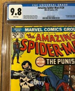 Amazing Spider-Man #129 CGC 9.8 1st Appearance The Punisher White Pages