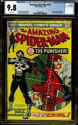 Amazing Spider-Man #129 CGC 9.8 1st Punisher, White Pages