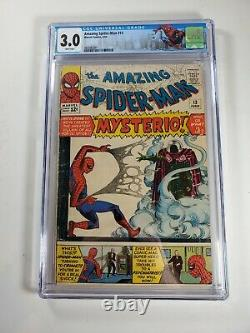 Amazing Spider-Man #13 CGC 3.0 white pages Graded 1st App Mysterio
