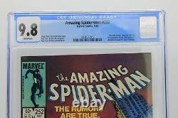 Amazing Spider-Man #252 CGC 9.8 NM/MT Direct White Pages 1st Black Suit Venom