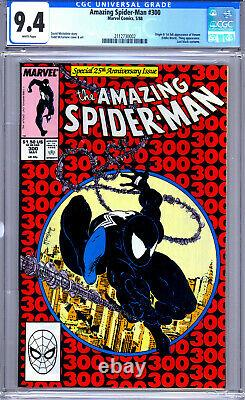 Amazing Spider-Man #300 CGC 9.4 White Pages McFarlane 1st Full Appearance Venom
