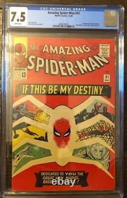 Amazing Spider-Man 31 7.5 WHITE PAGE + 121 5.0.1st Gwen Stacy + Death. All CGC