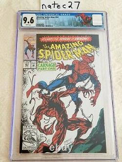 Amazing Spider-Man #361 CGC 9.6 1st Print White Pages, Spidey label, CARNAGE