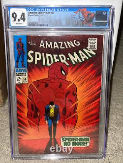 Amazing Spider-Man #50 CGC 9.4 1967 WHITE pages! 1st Kingpin Daredevil L10 clean