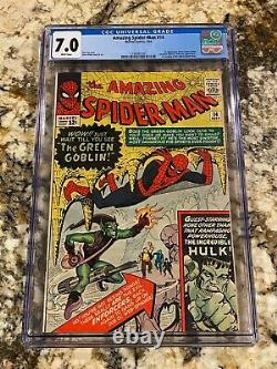 Amazing Spider-man #14 Cgc 7.0 Rare White Pages 1st Green Goblin Hi End Mcu Key