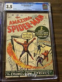 Amazing Spider-man 1 Cgc 3.5 White Pages Marvel Silver Age