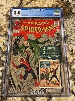 Amazing Spider-man #2 Cgc 3.0 Rare White Pages 1st Vulture New Mcu Movie Invest