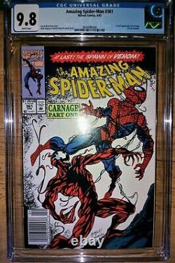 Amazing Spiderman 361 cgc 9.8 NEWSTAND EDITION (WHITE PAGES) Bonus Books 362,363