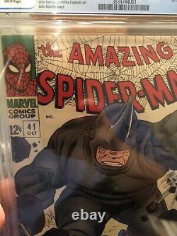 Amazing Spiderman 41 CGC 4.5. First Appearance Of Rhino. White Pages