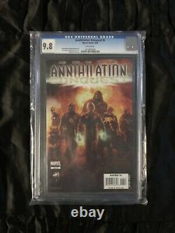 Annihilation Conquest #6 CGC 9.8 NM/MT White Pages PRISTINE COPY! 1st Guardians