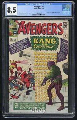 Avengers #8 CGC 8.5 White Pages (Marvel 9/64) 1st appearance of Kang