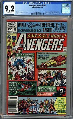 Avengers Annual #10 Cgc 9.2 Nm- 1st Rogue Appearance, Newsstand White Pages