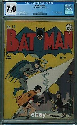 Batman #14 Cgc 7.0 High Grade. White Pages! W Pgs 1943
