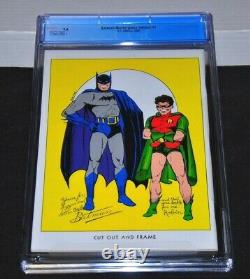 Batman 1 Masterpiece Edition CGC 9.8 White Pages 2000 HIGHEST GRADED 1940