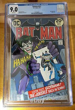 Batman #251, D. C. 1973, CGC 9.0 White Pages, Neal Adams Cover
