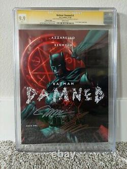 Batman Damned #1 CGC 9.9 WHITE Pages Signed Jim Lee and Brian Azzarello