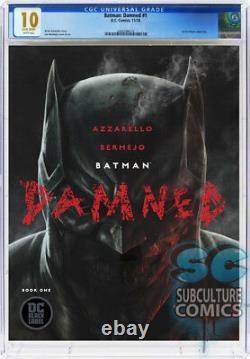 Batman Damned #1 First Print DC Comics Cgc 10 Gem Mint White Pages Key