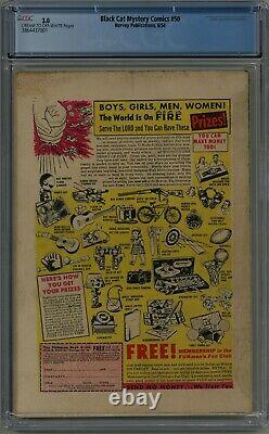 Black Cat Mystery Comics #50 Cgc 3.0 Cream To Off-white Pages 1954