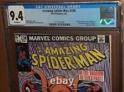 CGC 9.4 Amazing Spider-Man 238 with Tattooz. First 1st Hobgoblin MCU White Pages