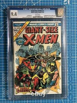 CGC 9.4 Giant Size X-Men #1 1st new X-Men, 2nd Wolverine WHITE PAGES OLD LABEL
