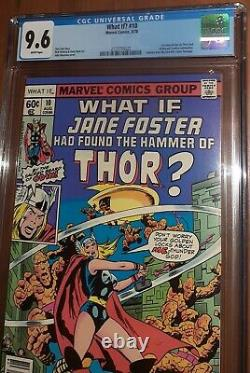 CGC 9.6 What if 10. First 1st Appearance of Jane Foster as Thor MCU White Pages