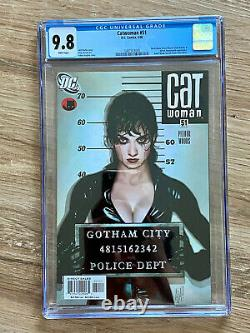 Catwoman #51 cgc 9.8 White Pages Adam Hughes Cover