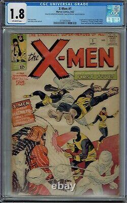 Cgc 1.8 X-men #1 Origin & 1st Appearance 1963 Off-white Pages