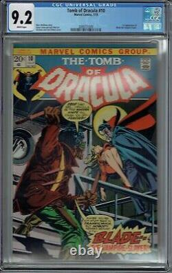Cgc 9.2 Tomb Of Dracula #10 1st Appearance Blade The Vampire Slayer White Pages