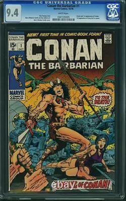 Conan #1 CGC 9.4 Marvel 1970 White Pages! Movie! 105 cm