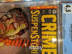 Crime SuspenStories 20 CGC 4.5 WHITE PAGES E. C. Comics Classic Hanging Cover