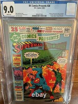 DC Comics Presents 26 Newsstand CGC 9.0 White Pages First Appearance 1980
