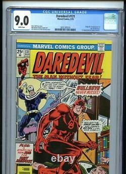 Daredevil #131 CGC 9.0 White Pages 1st Bullseye