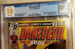 Daredevil #157 CGC 10.0 GEM MINT White Pages Avengers not 9.8