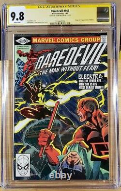 Daredevil 168 Cgc Ss 9.8 Signed Frank Miller 1st Elektra 1981 White Pages