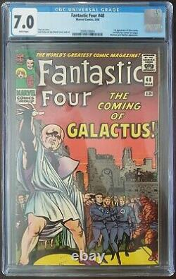 FANTASTIC FOUR #48 CGC 7.0 1st SILVER SURFER & GALACTUS WHITE PAGES WOW